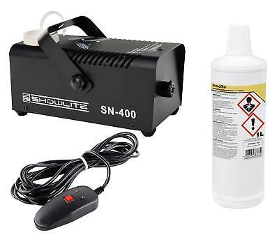 DJ PA Nebelmaschine Disco Nebel Effekt Fog Machine Fogger 1L Nebelfluid Set 400W