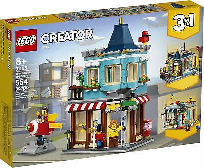 LEGO Creator 3-in-1 Townhouse Toy Store Building Kit 31105