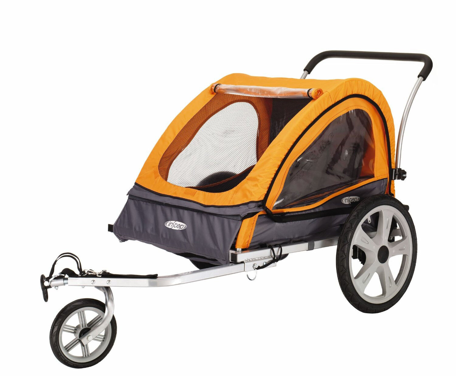 InStep Quick N Ez Double Bike Bicycle Trailer Stroller Ba...