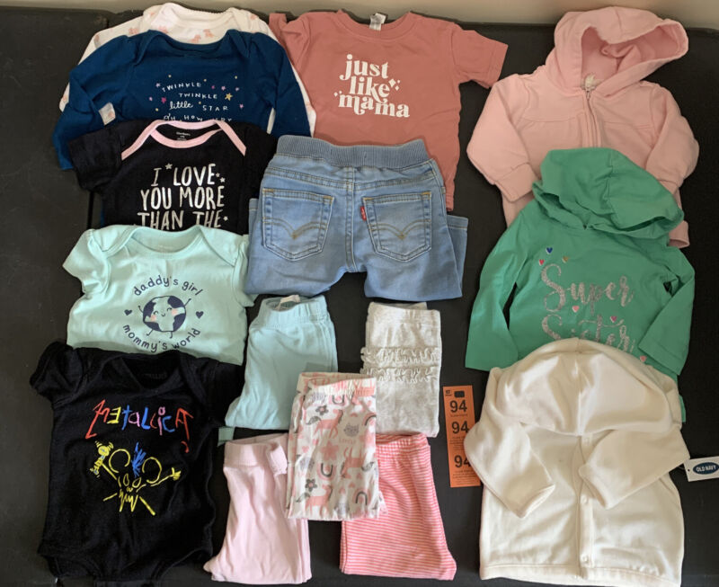 Baby Girls, Clothes, 15pcs Lot, 6 Months,carter's, Gerber Baby Spring Outfits