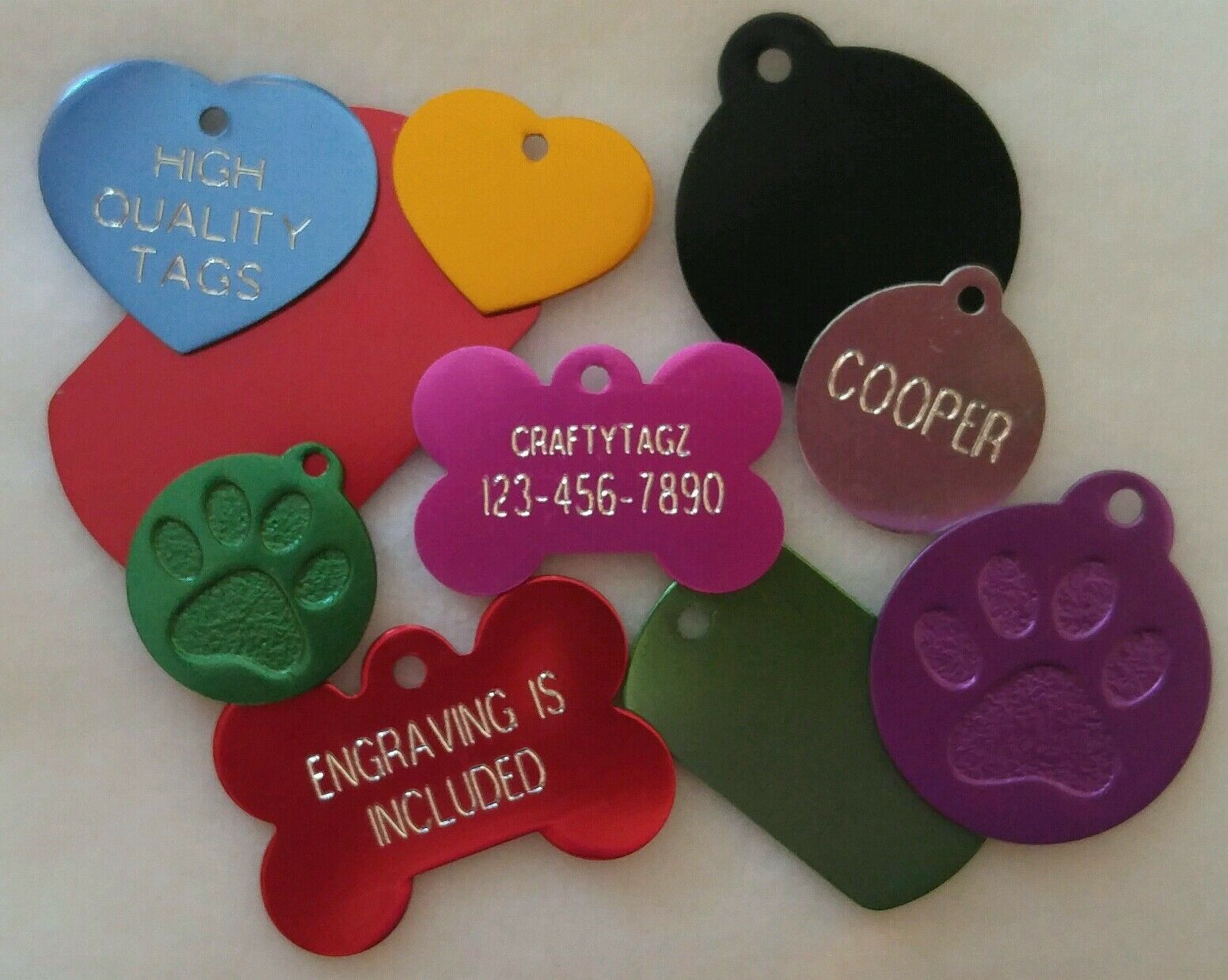 Custom ENGRAVED PET TAG Personalized Dog ID Charm IDENTIFICA