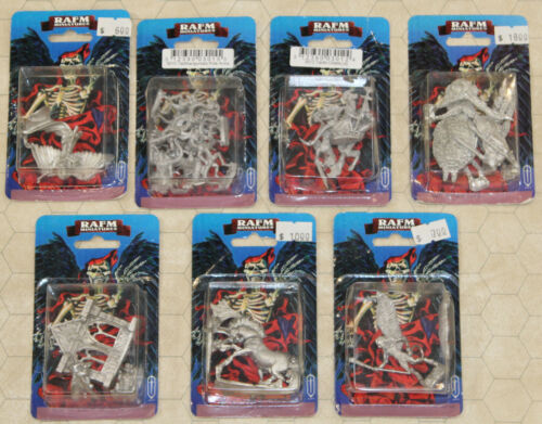 Lot of 7  packs of RAFM Metal MONSTER Miniatures NEW!! Please see pics LOT 2 !!