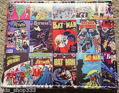 BATMAN COMIC COVERS bi fold wallet Dark knight DC Comics US Seller collectible