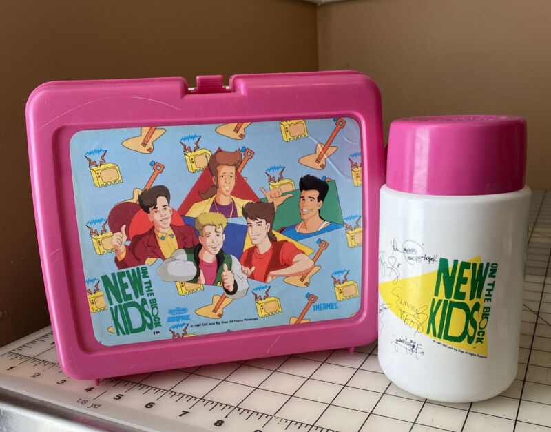 New Kids On The Block Lunch Box WITH Thermos