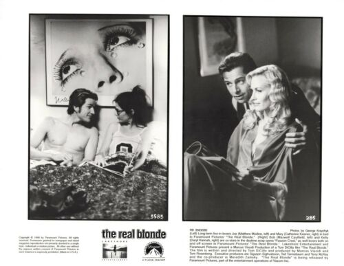 THE REAL BLONDE-KEENER-MODINE-CAULFIELD-10X8-B/W- PRESS PHOTO #3583-285-1998