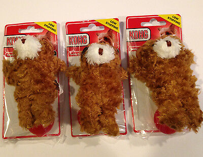 Kong Dr Noys Plush (KONG Dr Noys Toy Extra Small 3 PackTeddy Bears-Dog Toys For Small Dogs )