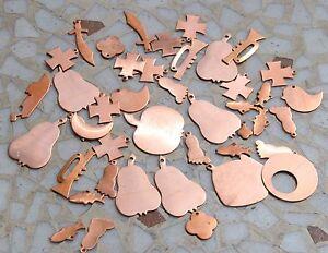 100 gr. Kupferteile Kupfer Teile Emaillieren Rohling f. Farbschmelzpulver
