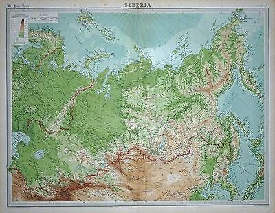 1920 LARGE MAP ~ SIBERIA ~ 23