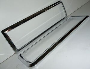 FORD ESCORT CAPRI MK1 GT LOTUS TWIN CAM REAR DIECAST CHROME TAIL LIGHT BEZELS