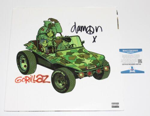 GORILLAZ DAMON ALBARN SIGNED SELF TITLED DEBUT ALBUM VINYL RECORD LP BECKETT COA