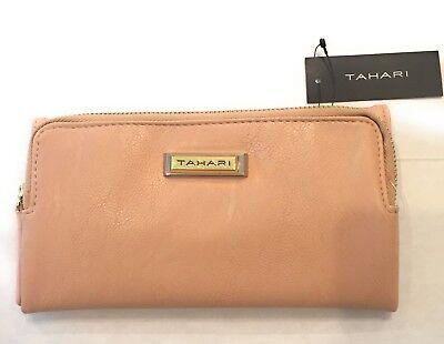 Tahari Zip Front Clutch Trifold Organizer Wallet Blush - (Front Zip Organizer)