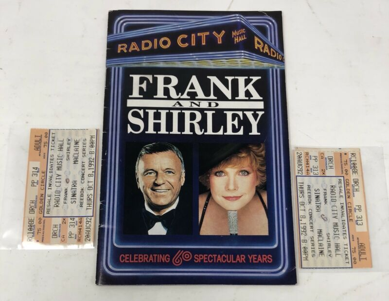 FRANK SINATRA Concert Memorabilia: Frank And Shirley Radio City (1992-10-08) ++