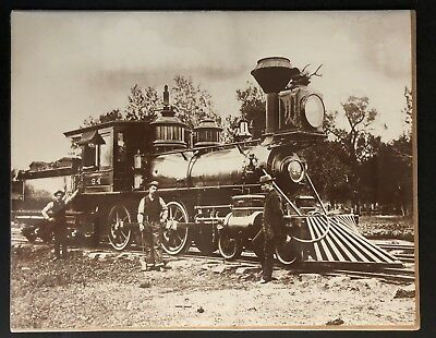 "1880 NARROW GAUGE LOCOMOTIVE 11"" x 14""  PRINT DENVER & RIO GRANDE RAILROAD"