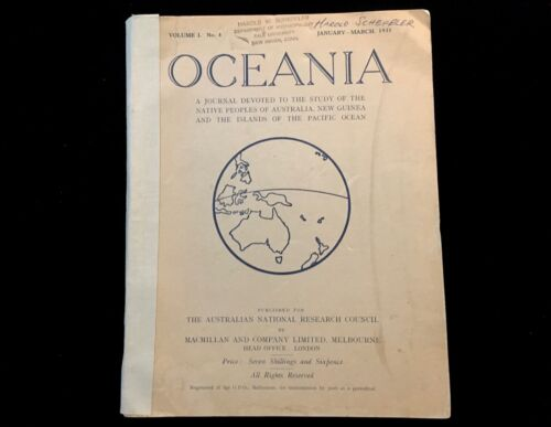 OCEANIA JOURNAL MARCH 1931  MURNGIN WARFARE TOTEMISM IN POLYNESIA AUSTRALIAN TRI