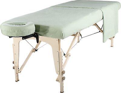 - Master Massage Table Universal Natural Cotton Flannel Sheet set 3pcs LilyGreen
