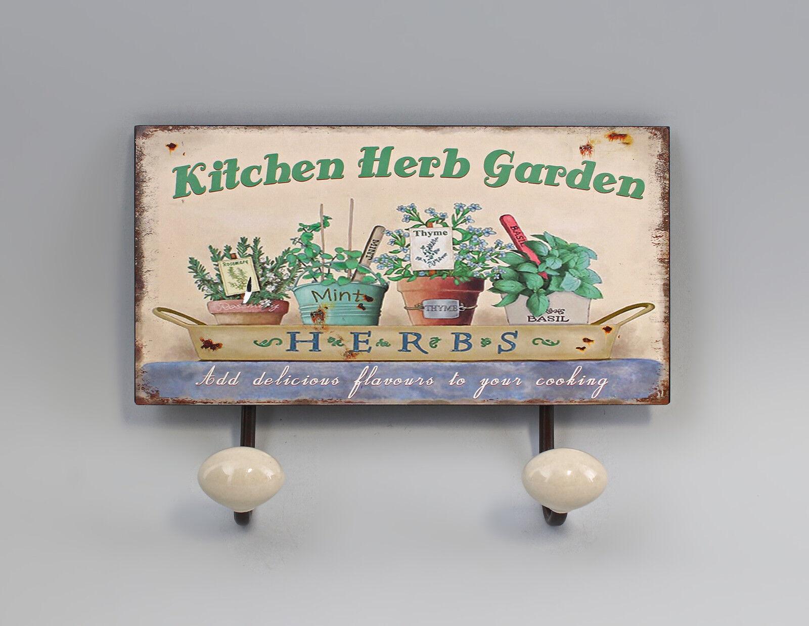 Hook - Strip Metal Herb garden Flower pots Vintage Shabby Chic a3-73164