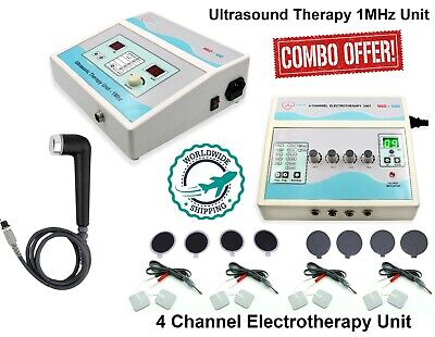 Combo Ultrasound Physio Therapy 1mhz Electrotherapy 4 Channel Pain Relief Unit