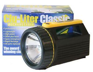 NEW Cluson Clulite Clu-Liter Classic CLU10 Rechargeable Torch - Black