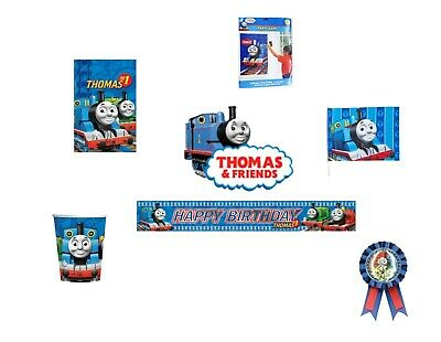 HDAY PARTY SUPPLIES TABLEWARE DECORATIONS BALLOONS  (Thomas The Tank Party Supplies)