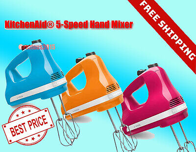 NEW KitchenAid 5-Speed Ultra Speed Hand Mixer - VARIOUS COLORS