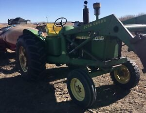 John Deere 3020 diesel with 46a loader and bucket