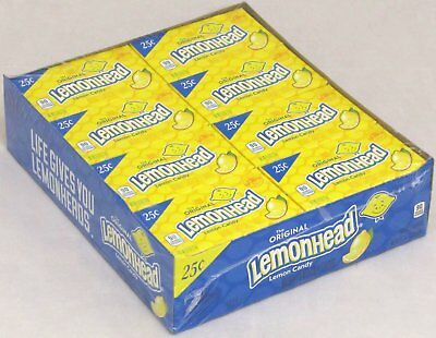 Lemonheads Candy 24 Count Box Lemon Head Bulk Candies Lemonhead 24 Packs