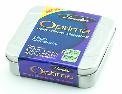 Swingline Optima High Capacity Premium Jam Free Staples 2500 Count W Tin Case