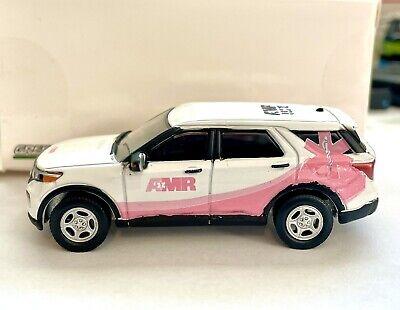 1/64 Greenlight 2020 Ford Explorer AMR Breast Cancer Awarness Unit Custom