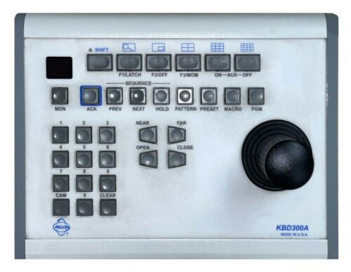 Pelco KBD300A PTZ Keyboard JOYSTICK/CONTROLLER with 10ft cable 30 Day Warranty