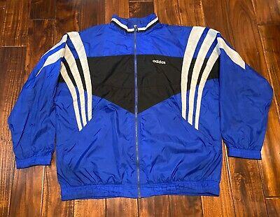 Vintage Adidas Full Zip Windbreaker Jacket Size 2XL XXL 3-Stripes