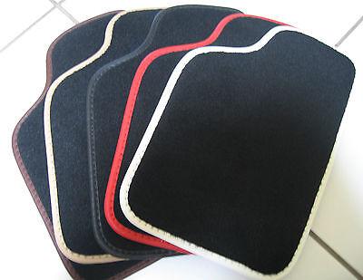 seit 2009 av clips Velour Fußmatten Porsche Panamera - Schwarz 4tlg