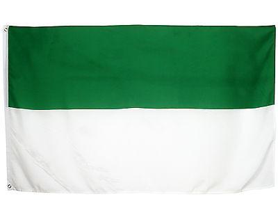 Fahne Schützenfest grün weiss Querformat 90 x 150 cm  Hiss Flagge Kirmes
