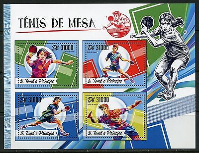 SAO TOME 2017  TABLE TENNIS SHEET MINT NH