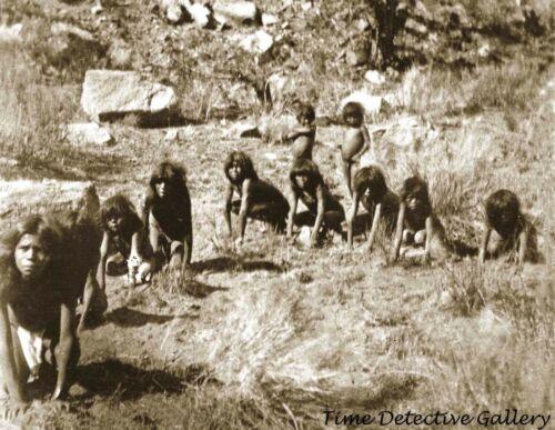 Paiute Indian Children Playing Wolf and Deer, Arizona 1872- Historic Photo Print