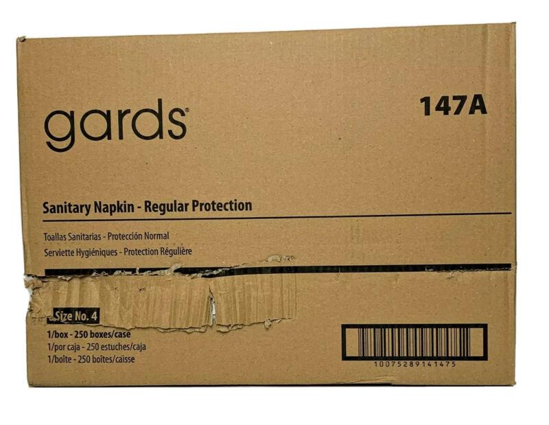 Hospeco Gards Regular Sanitary Napkins, 250 Individually Boxed Napkins/Carton