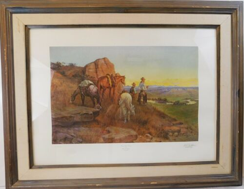 """""""Range Riders Resting"""" by Olaf Seltzer Signed & Numbered  Print Framed"""