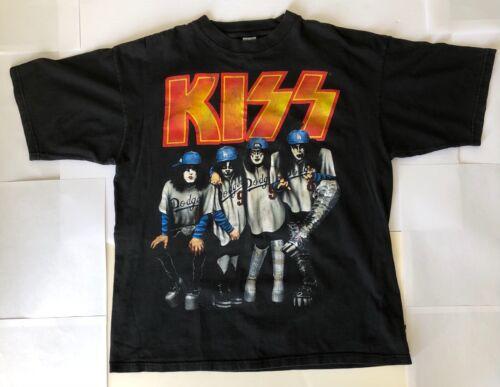 Vintage 1998 Kiss Psycho Circus LA Dodgers T Shirt Large Original Band Shirt