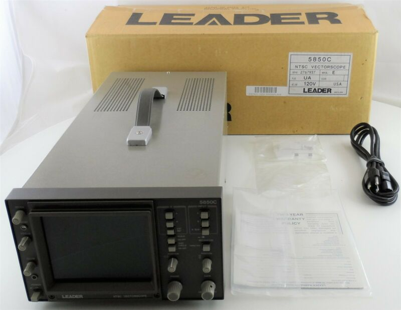 Leader 5850C Vectorscope with Power Cable Used
