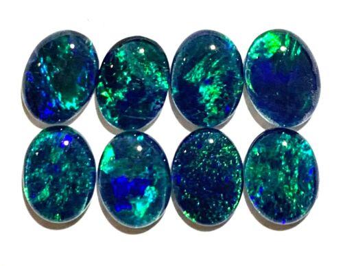 Birth Stone Opal 8x6mm Lightning Ridge Natural Triplet Opal Stones 8 Pieces JY2