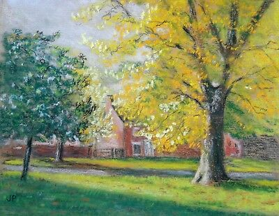 Original Pastel Painting - A Sunny Morning by J. P.