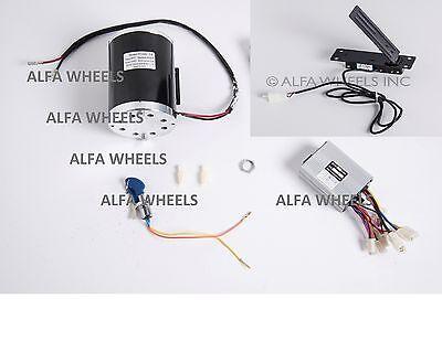 1000w 48v Bracket Electric Scooter Motorrev Control Box Key Lockfoot Throttle