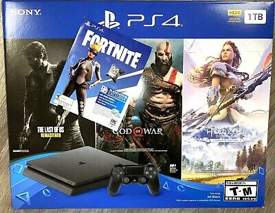 Sony PlayStation 4 PS4 Slim 1TB Console 3 Game Bundle + Fortnite 500v NEW - FAST