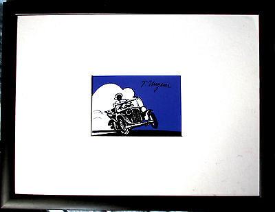 TOMI UNGERER Illustration HANDSIGNIERT, Faulkner, orig.SIGNED + Rahmen