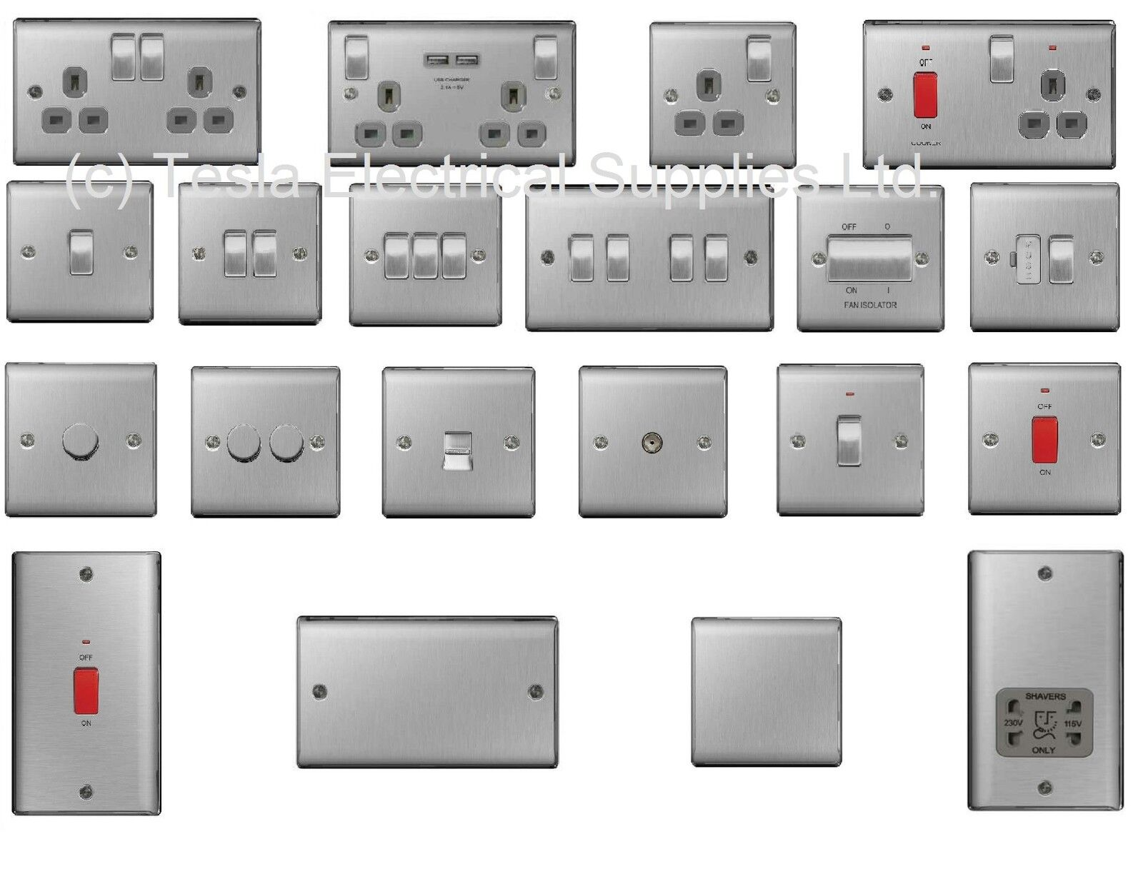 Bg Nexus Chrome Switches And Sockets Full Range Satin Brushed Wiring Accessories Polished