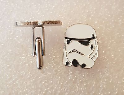 Pair of Stylish Star Wars Storm Trooper Cufflinks