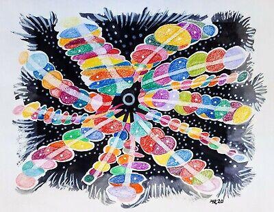 Original mixed media illustration 'Skittles' by Michelle Ranson