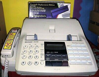Sharp Ux-510 Plain Paper Fax Machine Phone Ux-15cr Replacement Ribbon Film