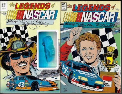 LEGENDS OF NASCAR # 1 & 2 RICHARD PETTY BILL ELLIOTT 1990 NEAR MINT VORTEX
