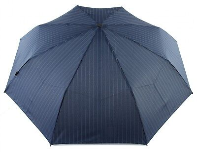 Knirps Umbrella T2 Duomatic Pinstripe Navy