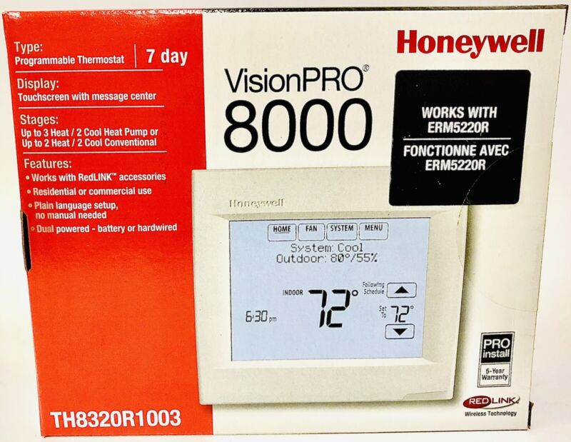 Honeywell VisionPro 8000 TH8320R1003 Touchscreen Programmable Thermostat New